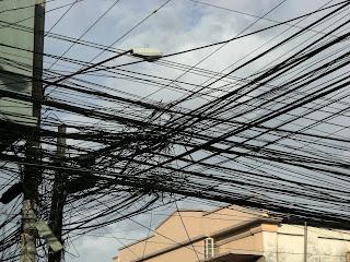 electric wiring, La Ceiba, Honduras