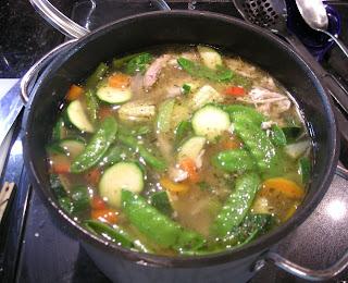 La Gringa's chicken soup, La Ceiba, Honduras