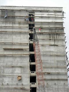 Building construction, San Pedro Sula, Honduras