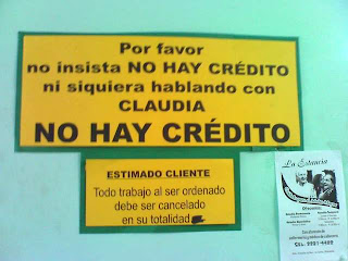 No hay credito, La Ceiba, Honduras