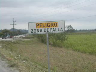 road sign, Honduras