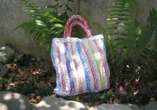 Sherbet stripes plastic bag, La Ceiba, Honduras