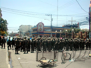 military in La Ceiba, Honduras