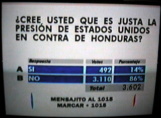 Honduran poll 7/29/09