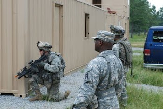 A 3rd Infantry Division Soldier trains for deployment to Iraq as a member of the new advisory and assistance brigades intended to train Iraqi security forces.