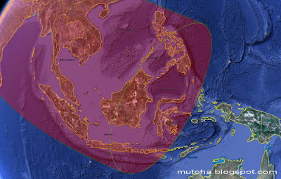 Daerah Indonesia yang dapat mengamati okultasi Venus (Sumber: Mutoha)