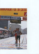 l'arrivo della prima maratona 14 ottobre 2001