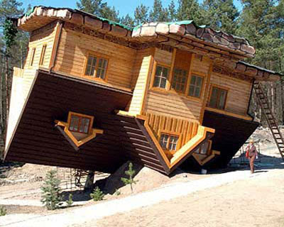 amory lovins house. Upside Down The House is