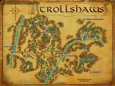 LOTRO Map of Trollshaws