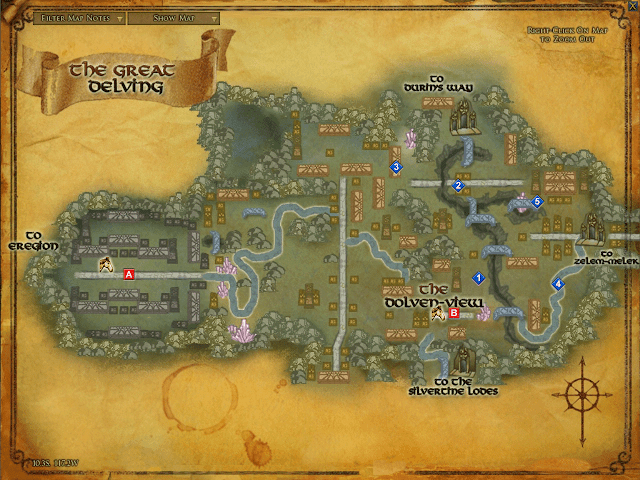LOTRO Map of The Great Delving