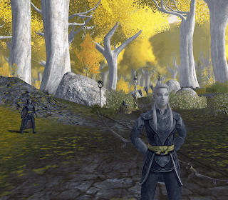 LOTRO Lothlorien Galadhrim scouts at the Golden Wood