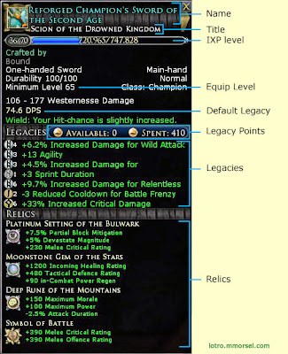 The Anatomy of a LOTRO Legendary Weapon