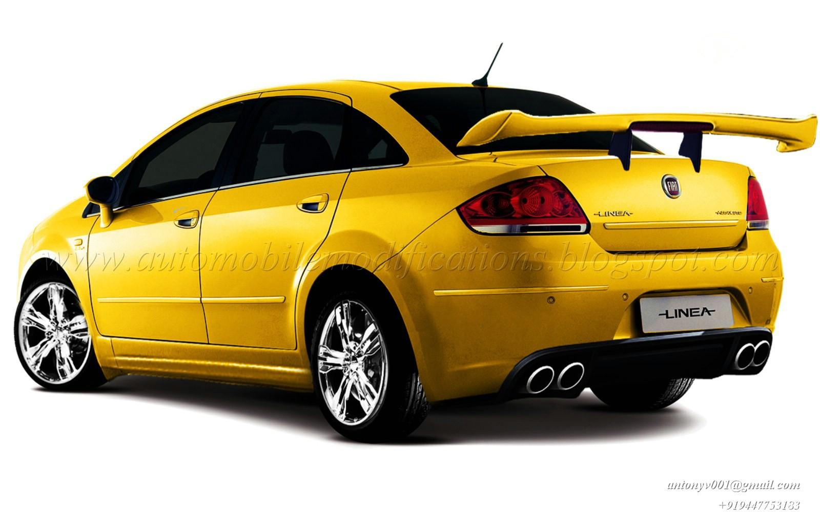 AUTOMOBILE MODIFICATIONS: FIAT LINEA HEAVILY MODIFIED
