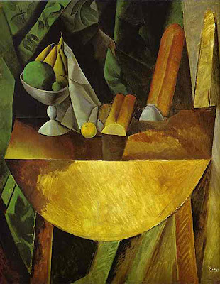 picasso cubism portrait. Painting Title: Bread and