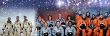 The Crews of Apollo 1, Challenger and Columbia.