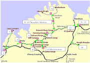 13. Kununurra (again!) and. 14. Bungle Bungles. Map of Australia (gibb river road map)