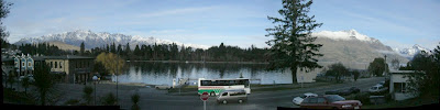 My New Zealand Vacation, Queenstown, Lake Wakatipu, Pano20a