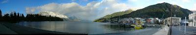 My New Zealand Vacation, Queenstown, Lake Wakatipu, Pano185a