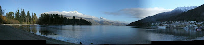 My New Zealand Vacation, Queenstown, Lake Wakatipu, Pano07a