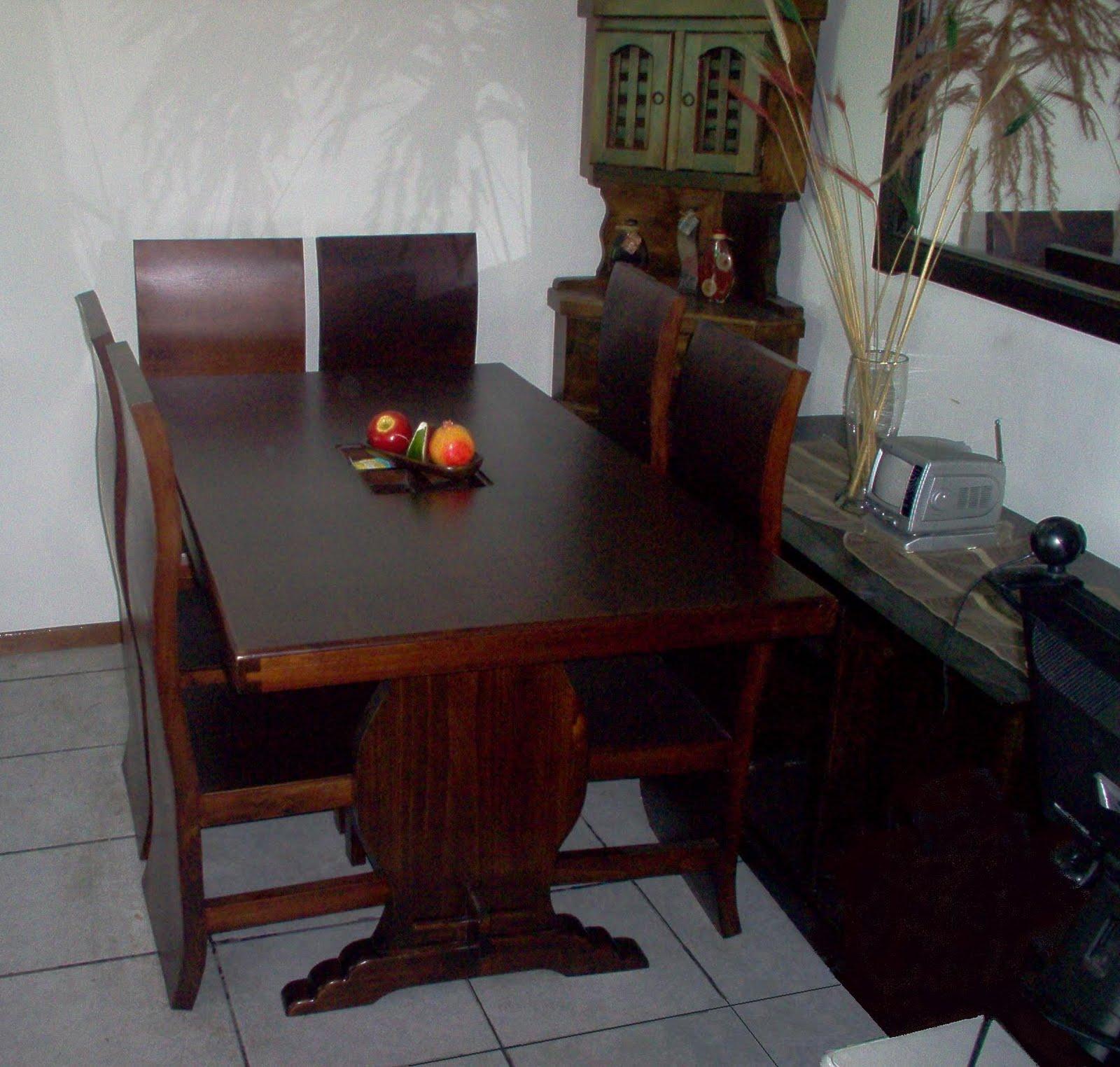 Mimbres y muebles rusticos y finos comedores for Comedores de madera precios