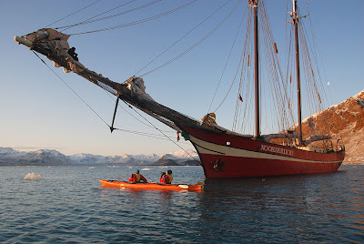 Filming under the bowsprit
