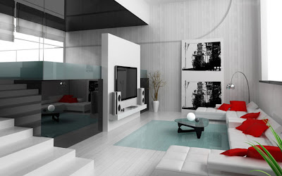 Modern Living Room Interior Design Color, Interior Design Ideas - Minimalist Living Room Interior