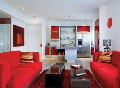Modern Red Living Room Interior Design, Modern Glass Living Room Interior Design - Minimalist Living Room Design
