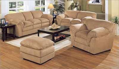 Coaster Sydney 3 Piece Pillow Top Living Room Set