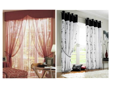 Eyelet Voile Curtain for Living Room