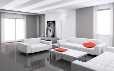 White Living Room Interior Decor