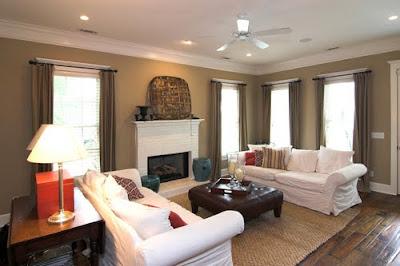 white luxury living room interior design idea