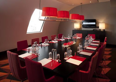 fitzwilliam hotel red private dining room design