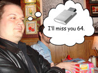 Andy Crying Over the Loss of the 64MB Memory Unit. Boo Hoo.