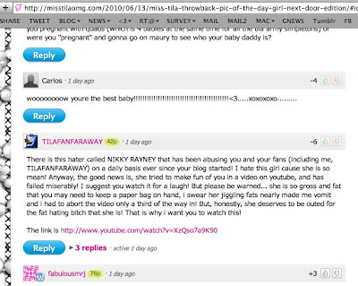 Tila Tequila Fans Attack Nikky Raney in comments  by Nikky Raney