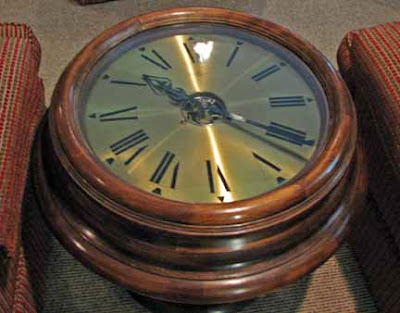 Walking prescott coffee table clocks Coffee table with clock