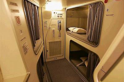 Cabine de repouso em jato da Singapore Airline