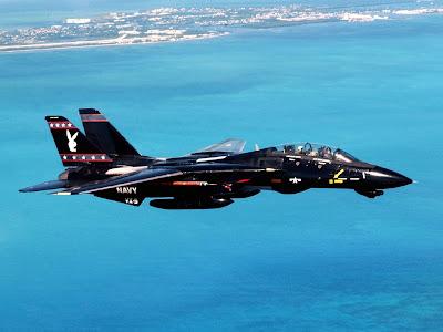 Foto para wallpaper (papel de parede) com caça a jato F-14 TomCat