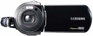 Câmera filmadora HD VP-HMX-10-A da Samsung, com memória flash