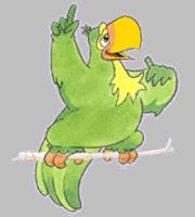 Mascote de piada-s de papagaio-s