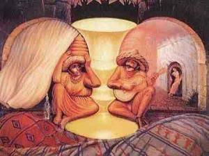 Imagem similar às de ilusões de ótica.