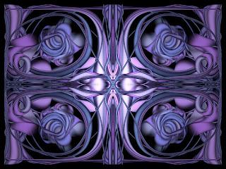 Plano de fundo de mandala simula rosa purpura