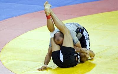 Cena de Luta Olímpica ou Greco Romana