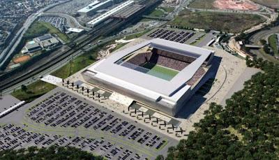 Projeto do estádio do Corinthians.