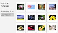 Exemplo de formato de galeria de fotos