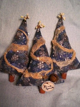 Primitive Blue Spruce Christmas Tree ornies