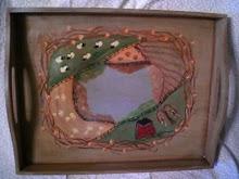 Primitive Folk Art Tray