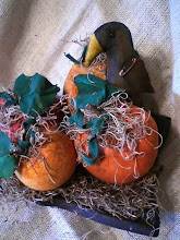 Fun prim autumn pumpkins--add a crow or two or three