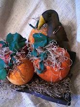 Fun prim autumn pumpkins--add a crow or two or three