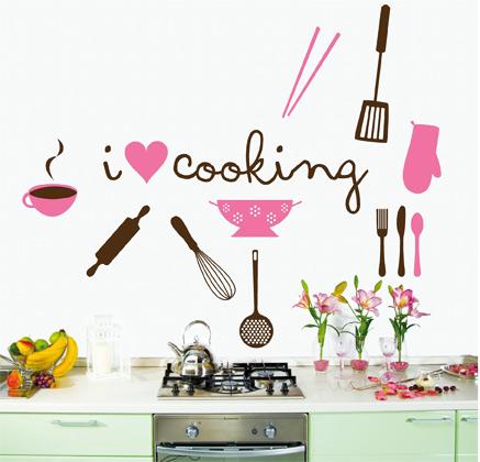 El cuaderno del decorador decorar paredes con vinilos ii - Decorar cocina con vinilos ...
