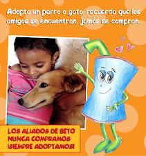 Adopta una mascota, recuerda que los amigos se encuentran, jamás se compran.